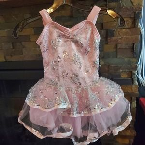Pink and silver dance costume